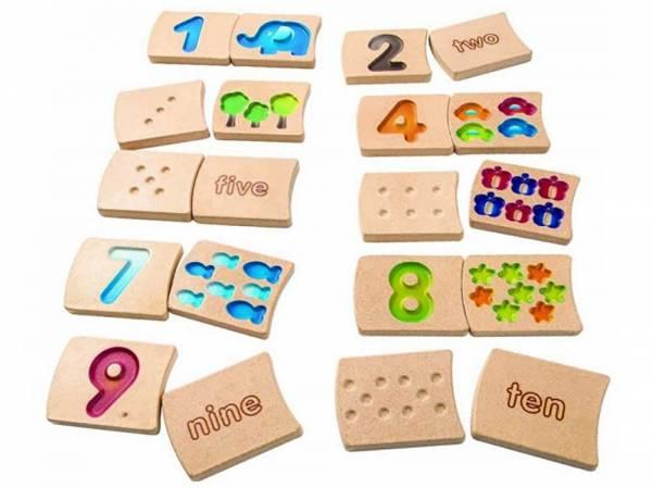 Zahlenplättchen 1-10
