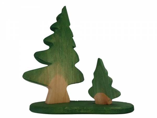 Tannenbäume aus Holz