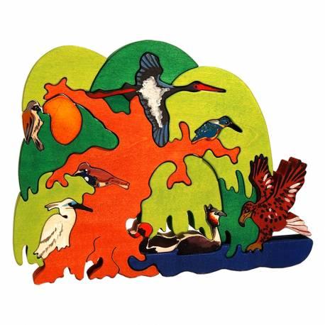 Puzzle Vogelbaum Europäisches Uferland