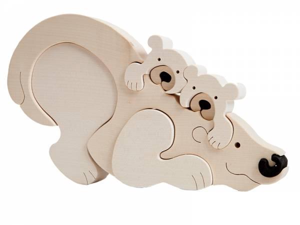 Puzzle Tierfamilie Eisbär