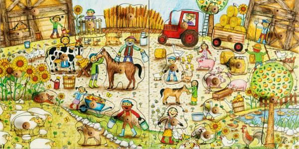Stempel-Puzzle Bauernhof Set