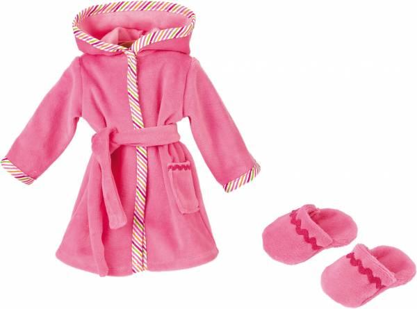 Puppen-Bademantel rosa