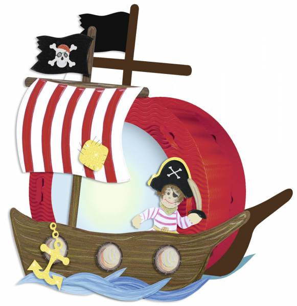 Laternen-Bastelset Pirat 1