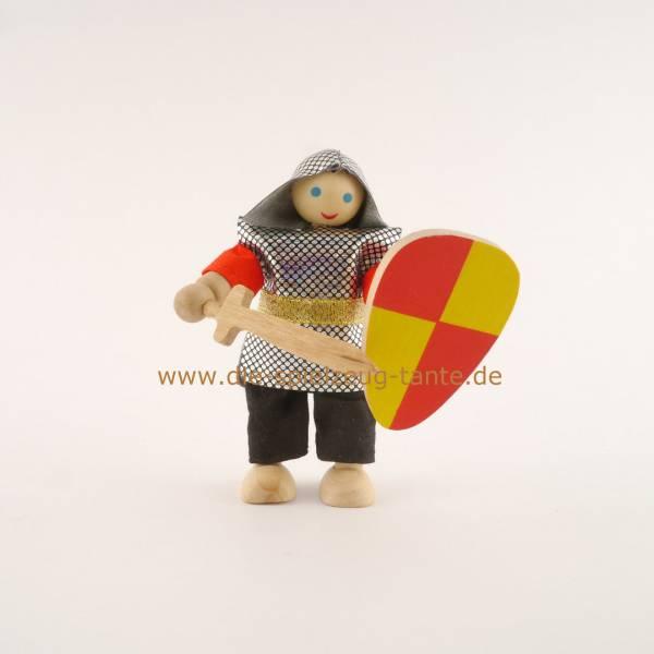 Ritter mit Schwert, rot gelb