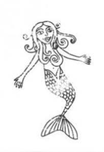 Meerjungfrau Einzelstempel