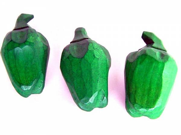 Paprika grün handgeschnitzt