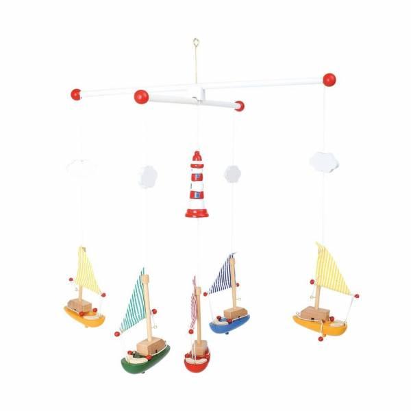Mobile Leuchtturm mit Segelbooten