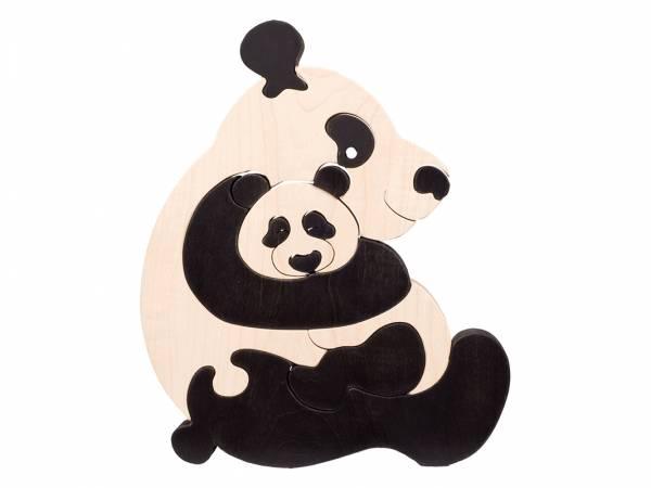 Puzzle Tierfamilie Pandabär