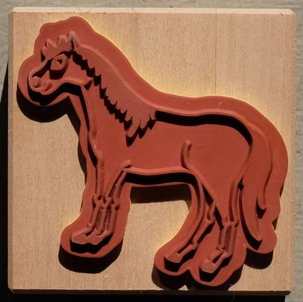 Pferd Einzelstempel