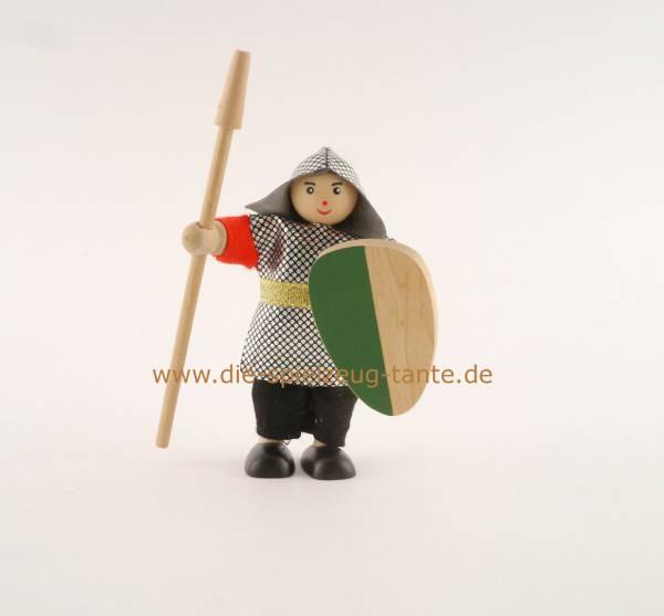 Ritter mit Lanze, grün