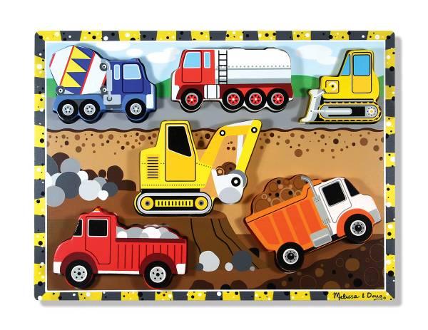 Puzzle Baustellenautos 6 Teile