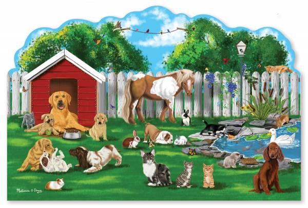 Bodenpuzzle Haustiere 32 Teile