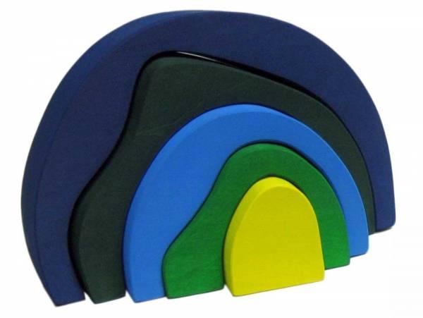 Regenbogenhöhle blau