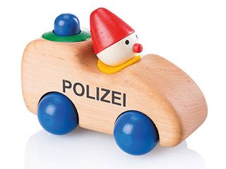 Polizeiwicht mit Hupe