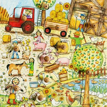 Stempel-Puzzle Schweinchen Oink