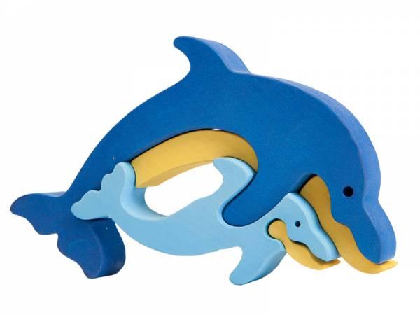 Puzzle Tierfamilie Delfin