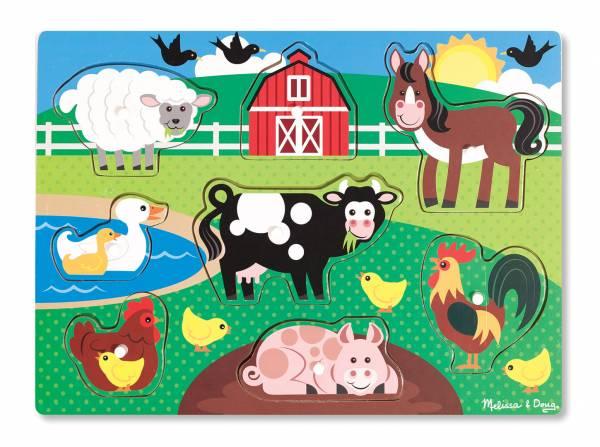Steckpuzzle Farmtiere 8