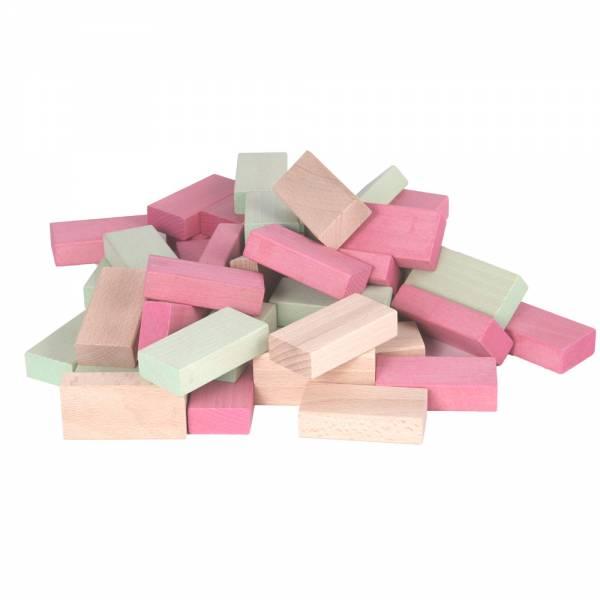 Fröbel-Bausteine pastell rosa-grün