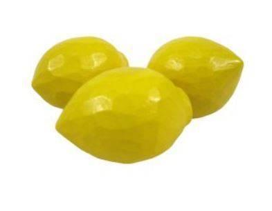 Zitrone, handgeschnitzt