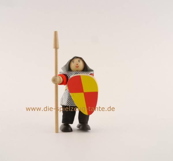 Ritter mit Lanze, rot gelb