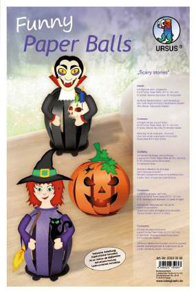 Funny Paper Balls Halloween