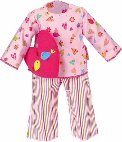 Pyjama rosa mit Herzkissen 30 cm