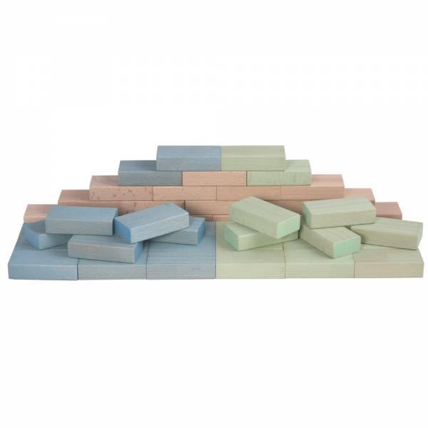 Fröbel-Bausteine pastell blau-grün