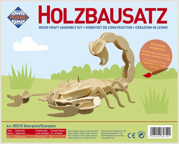 Holzbausatz Skorpion
