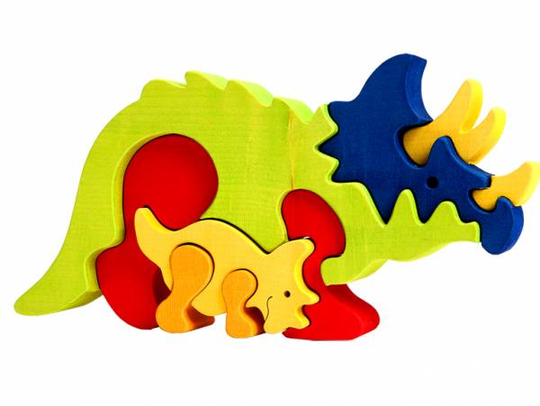 Puzzle Dinosaurier Triceratops
