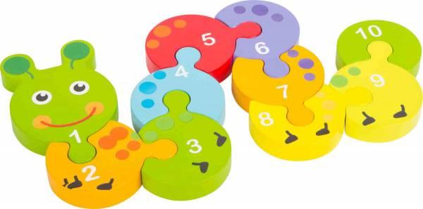 Zahlenpuzzle Raupe