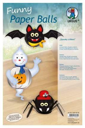Funny Paper Balls Halloween 2