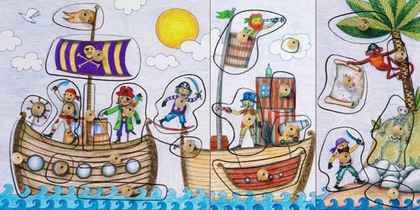 Stempel-Puzzle Piratenwelt