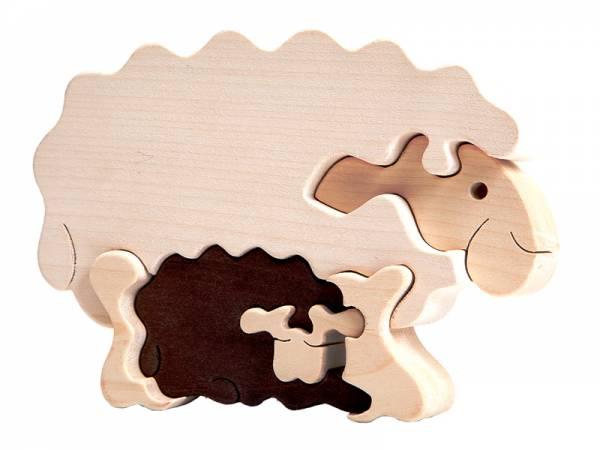 Puzzle Tierfamilie Schaf