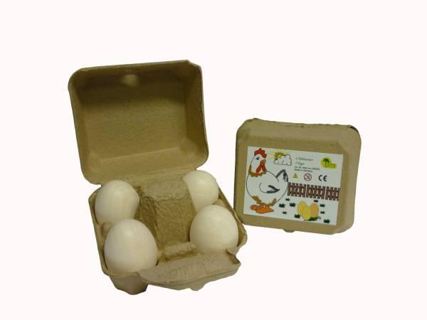 Eier, weiß 4er Box