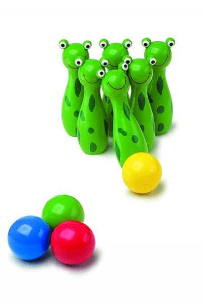 Kegelspiel Frosch