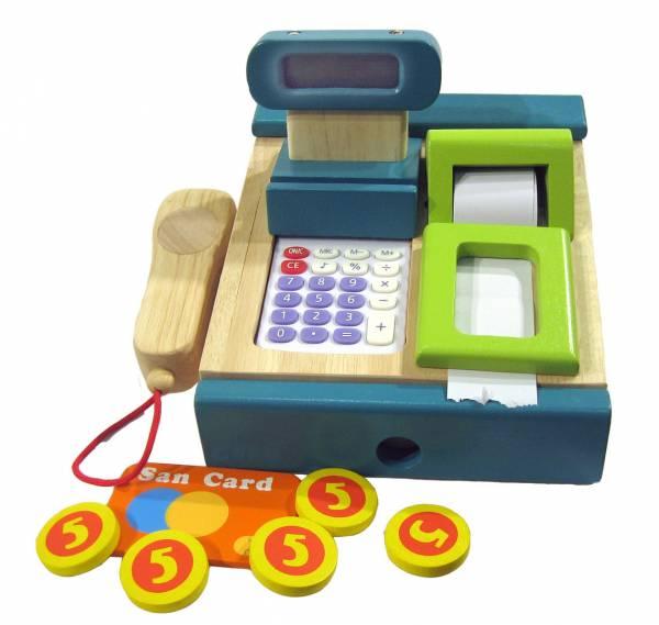 Kasse mit Scanner und Rechner