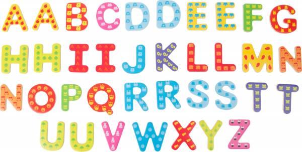 Bunte Magnetbuchstaben