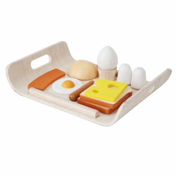 Frühstück auf Tablett
