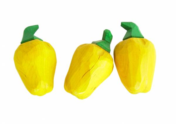 Paprika gelb handgeschitzt