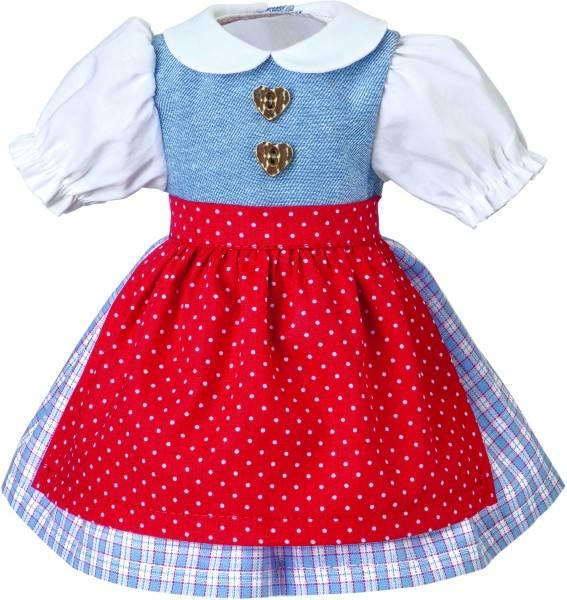 Puppen-Dirndl Schürze rot 39 cm