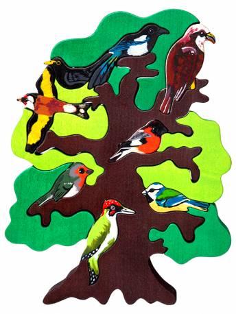 Puzzle Vogelbaum Europa