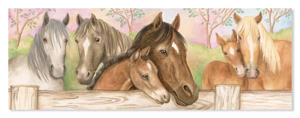Bodenpuzzle Pferde