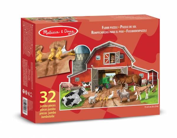 Bodenpuzzle Bauernhoftiere 32