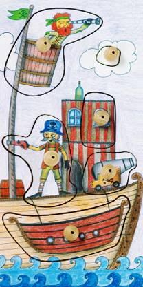 Stempel-Puzzle Kleines Boot