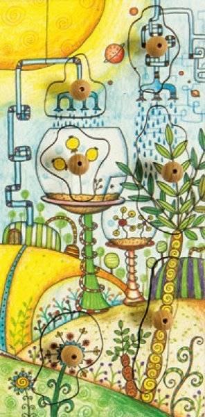 Stempel-Puzzle Zeitstempel Botanica