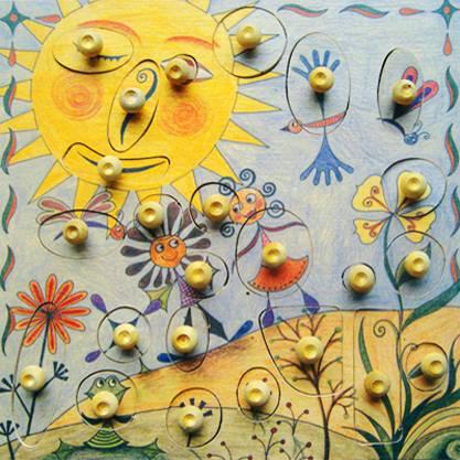 Stempelspiel Blumenwiese