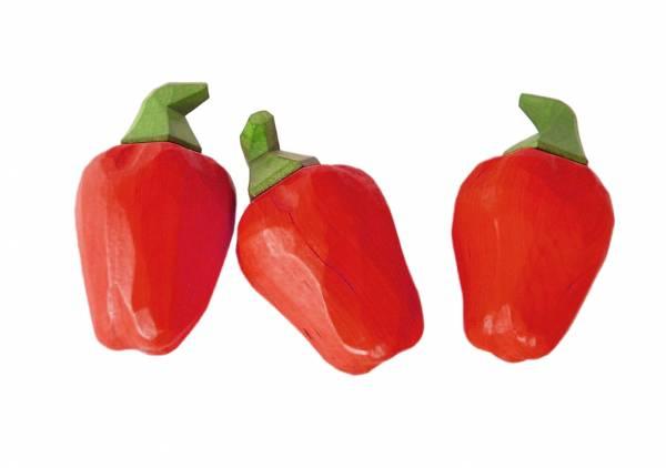 Paprika rot handgeschnitzt